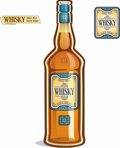 Bottle Whiskey Silhouette Clipart Whisky Clip Transparent