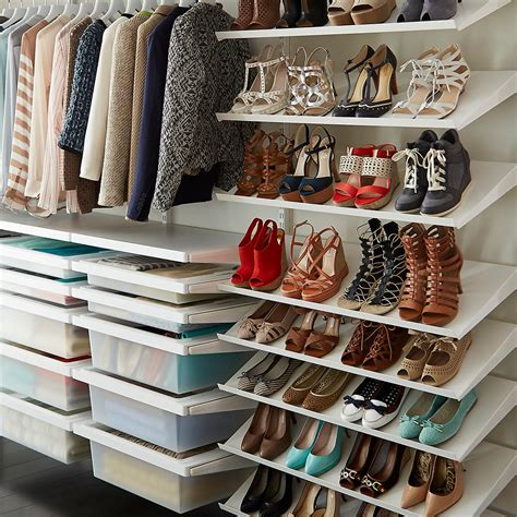 The Closet Shop by White Elfa D 233 Cor Deluxe Closet The Container Store