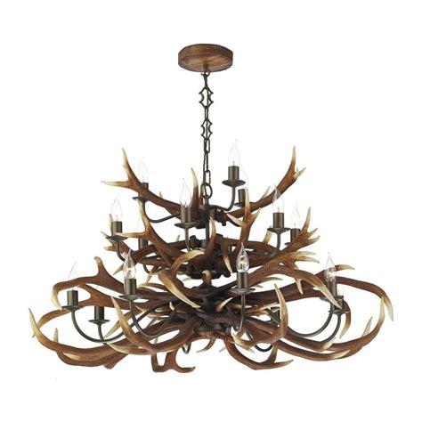 dar lighting ant1729 antler decorative 17 light tiered