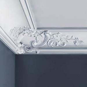 Grande Moulure Plafond Avec Dcor Baroque Polyurthane