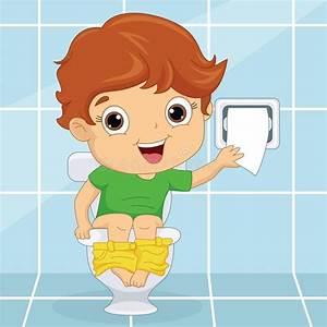 Toilette Pour Enfant : illustration de vecteur d 39 un enfant la toilette ~ Premium-room.com Idées de Décoration