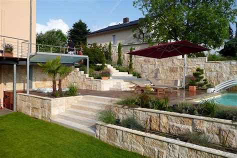 Haus Und Garten Swimming Pool On A Hillside Slope Terramanus Landscape Architecture