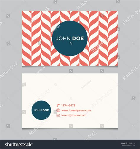 business card template red pattern vector stock vector