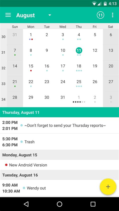 best android calendar app free calendar app for android tablet calendar