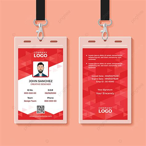 red corporate id card design template template