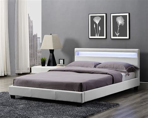 double king size bed frame led headboard night light