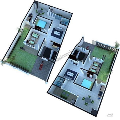 gambar denah rumah sederhana lengkap  type