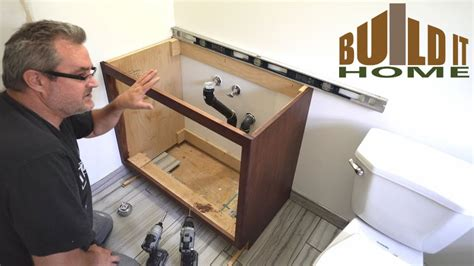 installing  bathroom vanity youtube