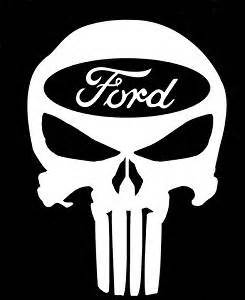 amazoncom punisher skull ford decal vinyl sticker cars With kitchen colors with white cabinets with ford oval stickers