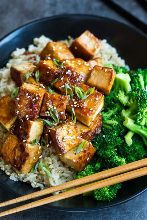honey garlic tofu recipe peas and crayons