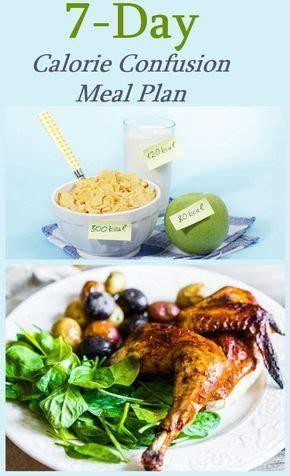 day calorie confusion meal plan diet nutrition
