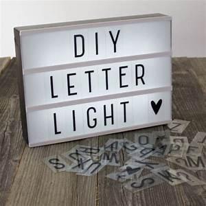 A4 diy lightbox letter lamp h o m e pinterest schlaf for Diy light box letters