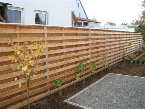 Gartenzaun Holz Sichtschutz Selber Bauen Bvraocom