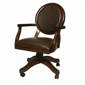 Seat Castres : brown wooden armchair and caster plus brown leather seat ~ Gottalentnigeria.com Avis de Voitures