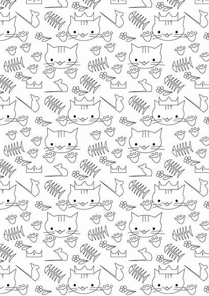 Coloring Cat Printable Paper Pages Spring Meinlilapark