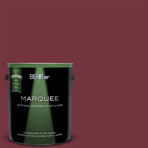 behr marquee 1 gal s130 7 cherry cola gloss enamel exterior paint and primer in one