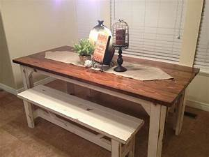Dining Room: interesting dinner table with bench Small