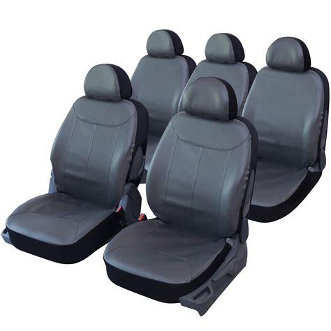 housse de siege auto cuir housse de siège auto universelle simili cuir gris