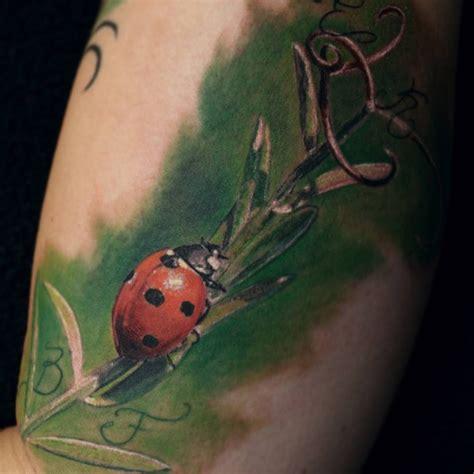 realistic ladybird  tattoo design ideas