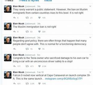 Elon Musk accidentally tweets immigration ban 'is not ...