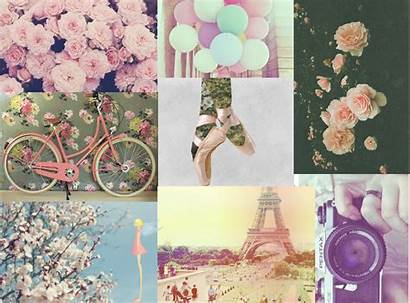Girly Collage Backgrounds Wallpapers Paris Desktop Quotes