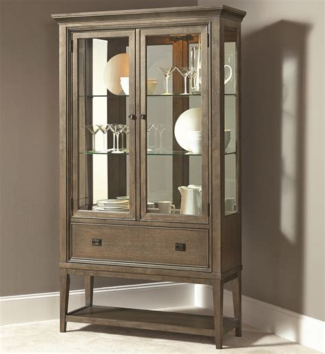 contemporary curio china cabinet with 2 glass doors and