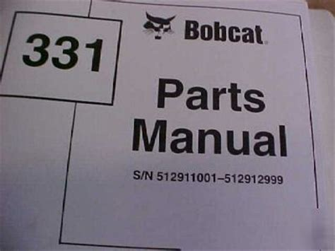 bobcat  parts manual mini excavator repair shop