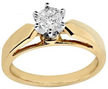gold solitaire engagement rings in nigeria
