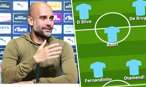 Man City team news: Predicted 4-3-3 line up vs Everton ...