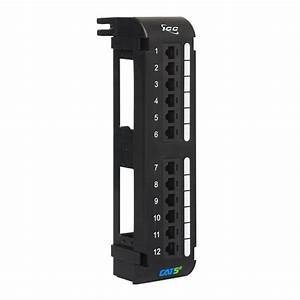 Cat5e Vertical Patch Panel With 12 Ports