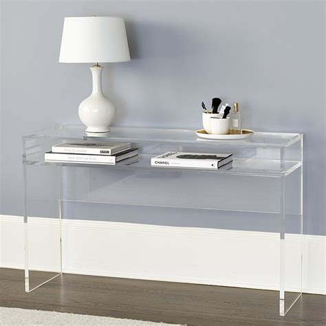 Alissa Acrylic Console Table  Ballard Designs. Bail Drawer Pulls. Surfshelf Treadmill Desk. Wooden Side Table. 48 Round Table. White Desk Chairs. Pool Table Cost. Dual Drawer Dishwasher Bosch. Round Marble Table
