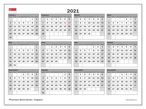 annual calendar  singapore michel zbinden en