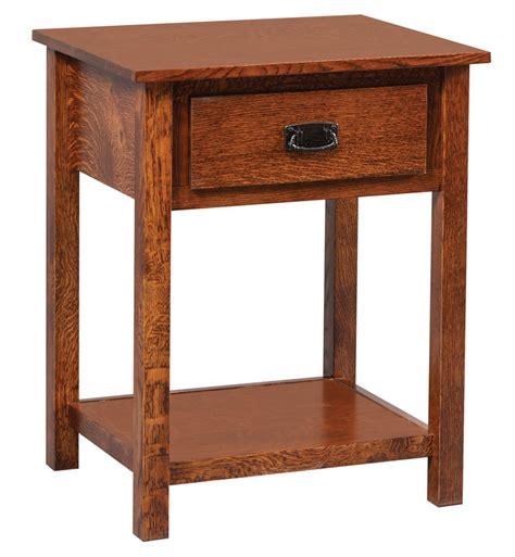 Open Nightstand by Elkins Open Nightstand With Shelf Ohio Hardwood Furniture