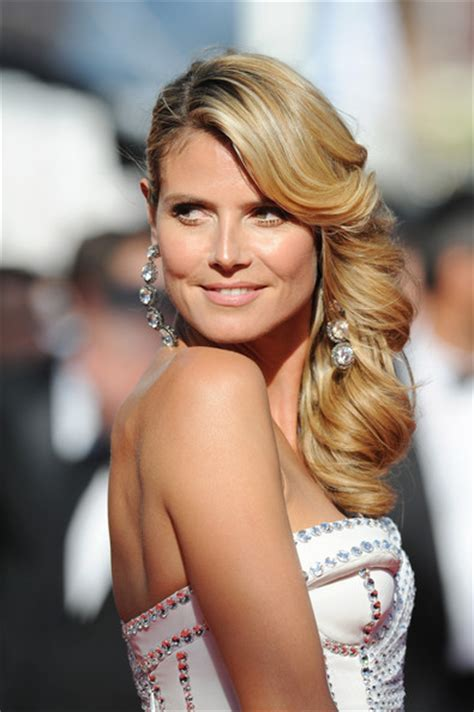 Heidi Klum You Voted The Top Side Swept Celebrity