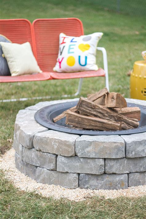 how to make a diy built in flagstone pit
