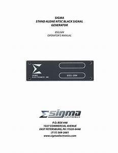 Sigma Bsg26n Operator U0026 39 S Manual