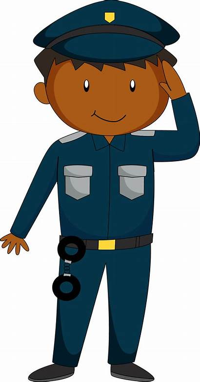 Clipart Salute Policeman Police Officer Cartoon Transparent