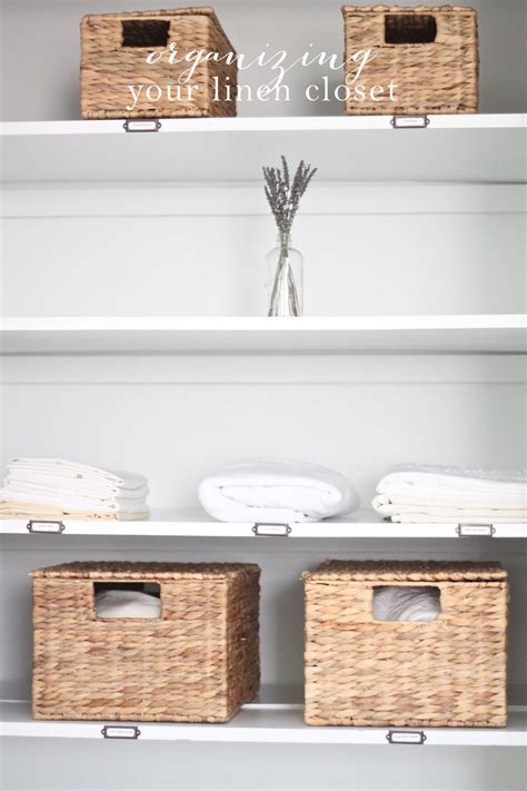 The Linen Closet by Tips For Organizing Linen Closet