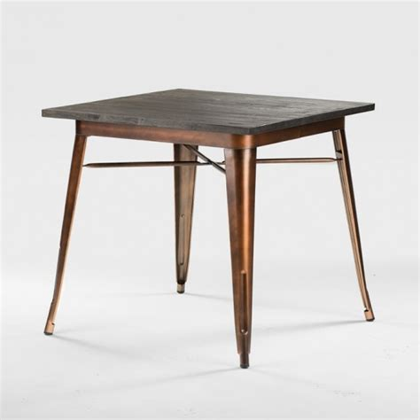 copper top dining table care owen dining table copper