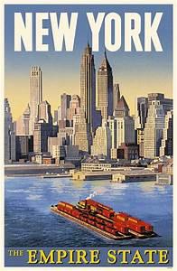 New York Poster : new york city vintage travel poster vintage pinterest ~ Orissabook.com Haus und Dekorationen