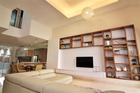 10 elegantly clean cut tv console and feature wall design ideas home decor singapore