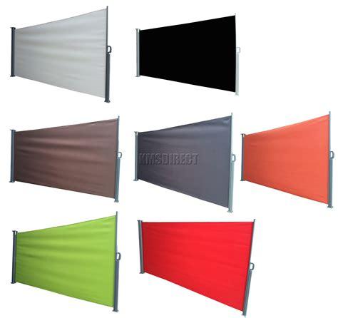 foxhunter garden patio sunshade blind retractable side awning outdoor screen  ebay