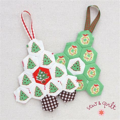 Magicforest Tree Sewing Set hexagon tree s ornament kit set of 3 sew