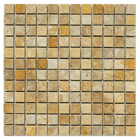 travertine tile mosaic tuscany gold travertine tumbled antique marble x corp