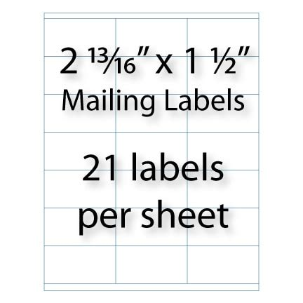 avery 5360 template mailing labels 2 13 16 quot x 1 1 2 quot avery 174 5360 5321 compatible