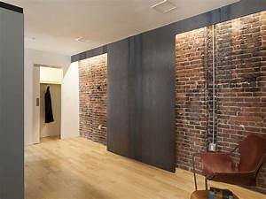 Brick wall inside house, brick building modern interior ...