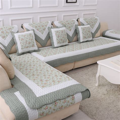 cotton blanket   couch floral cover sofa cushion sectional slip cover quilting cushion