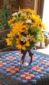 jar flower arrangement reserved sunflower centerpiece pint jar floral