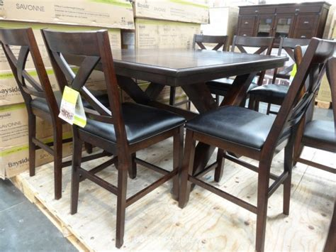 costco dining table in store bayside furnishings savonne counter height dining set