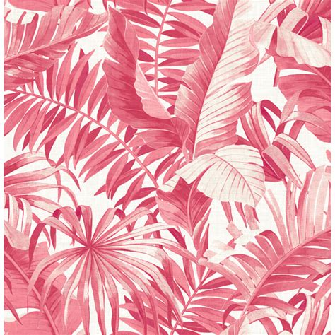 alfresco pink tropical palm wallpaper